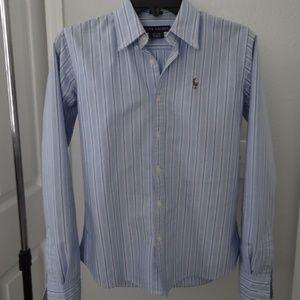 Ralph Lauren size 2 fitted dress shirt.